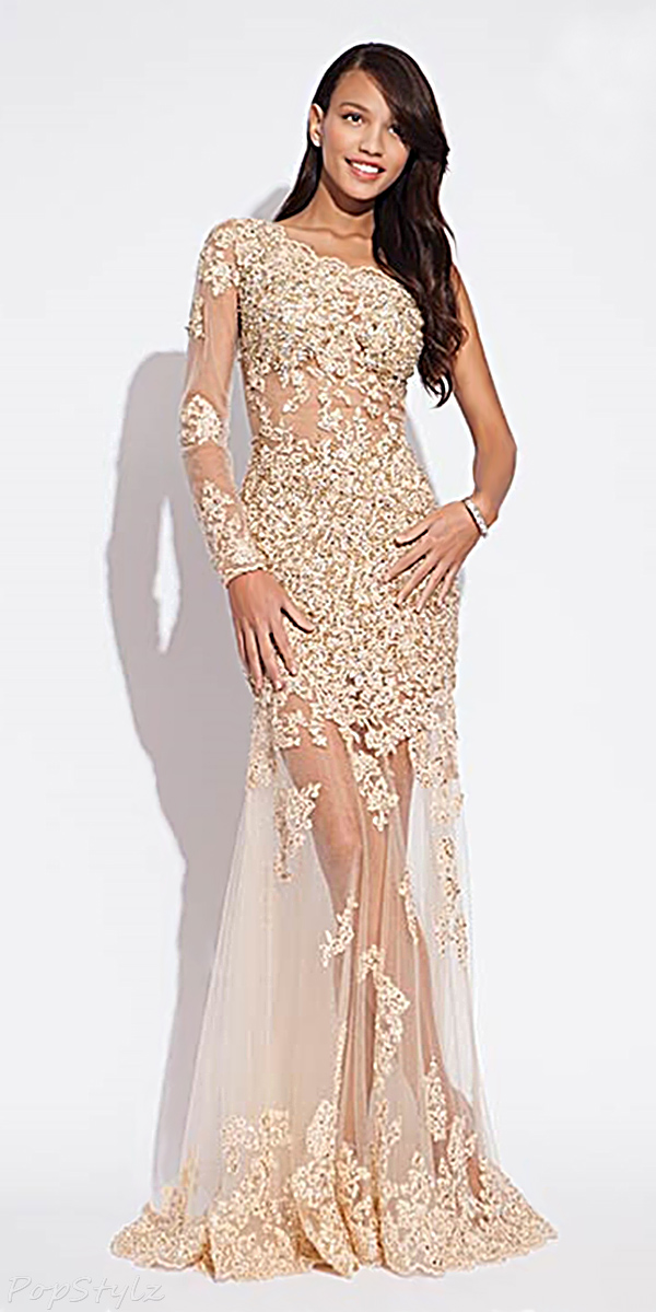 Jovani 73072 Long Lacy Formal Gown