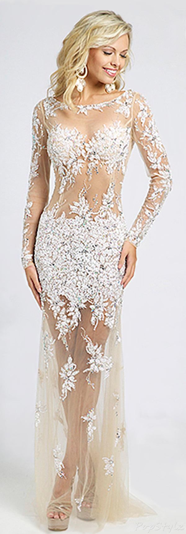 Jovani  89256 Lacy & Sheer 2015 Elegant Gown