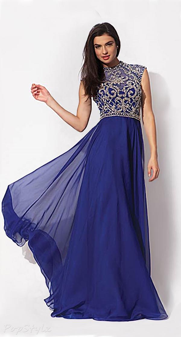 Jovani 91011 Elegant Flowing Floor Length Gown