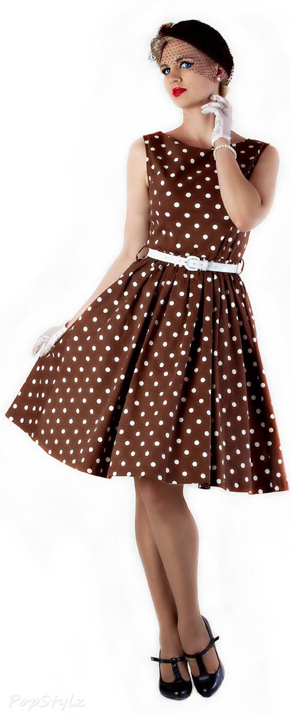 Lindy Bop 'Audrey' Polka Dot 'Pretty Woman' Swing Dress
