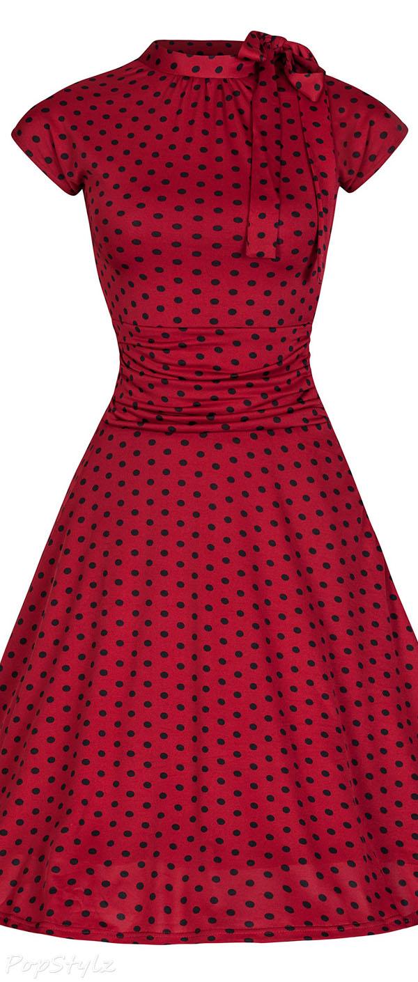 Lindy Bop Dottie Vintage 50s Polka Dot Tea Dress