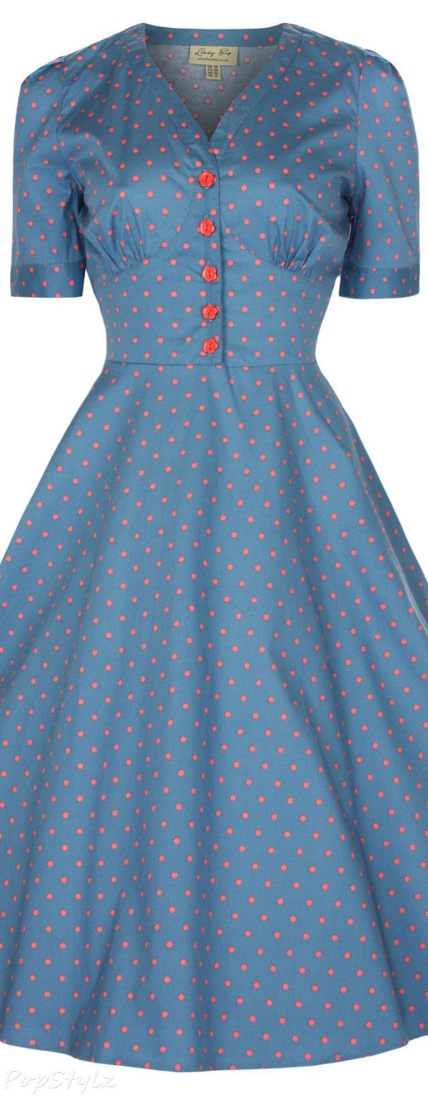 Lindy Bop Ionia Vintage 1950's Rockabilly Tea Dress