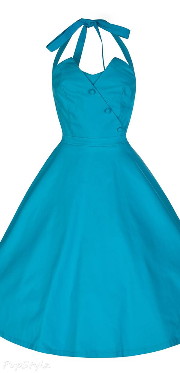 Lindy Bop 'Myrtle' Pastel 50's Halter Neck Swing Dress