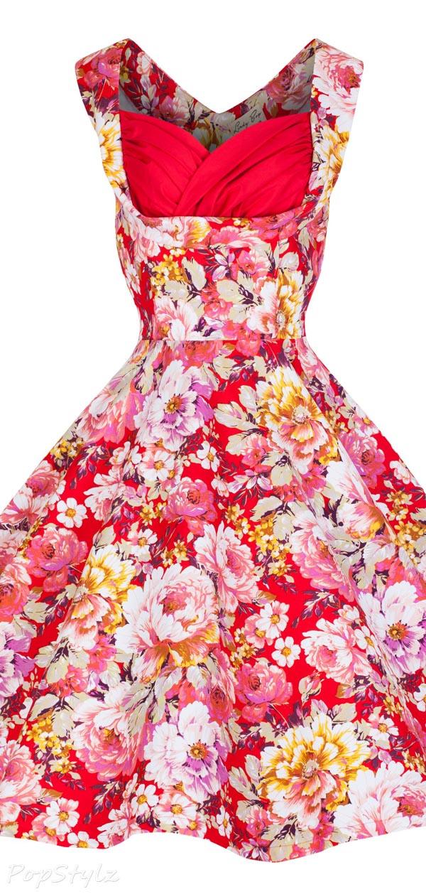 Lindy Bop 'Ophelia' Vintage 1950's Floral Spring Dress