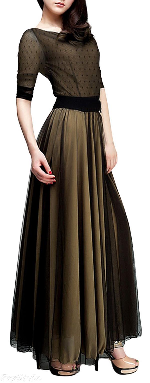 MIUSOL Polka Dot Classic Maxi Dress