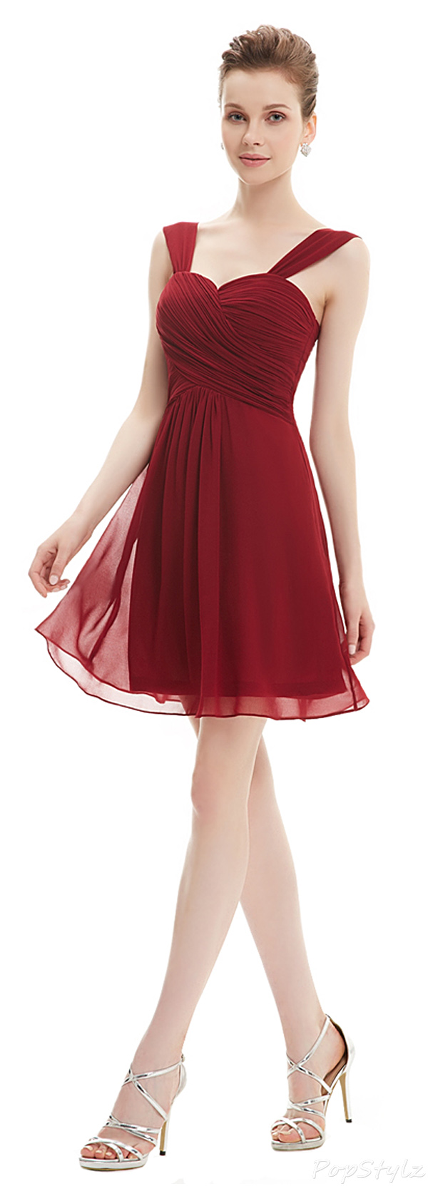 Ever Pretty 03539 Ruffles Chiffon Knee-length Dress