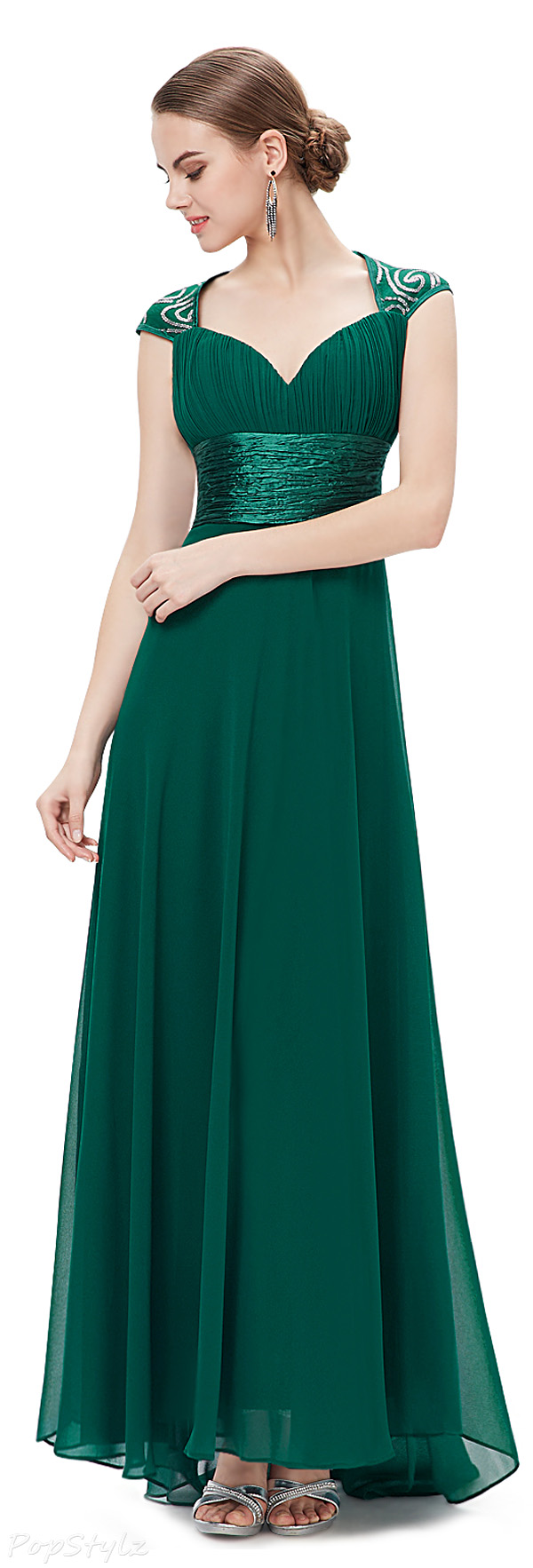 Ever Pretty 09672 V-neck Ruched Long Evening Dress