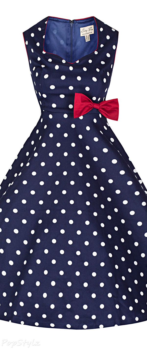 Lindy Bop 'Leda' Vintage 1950's Polka Dot Swing Dress