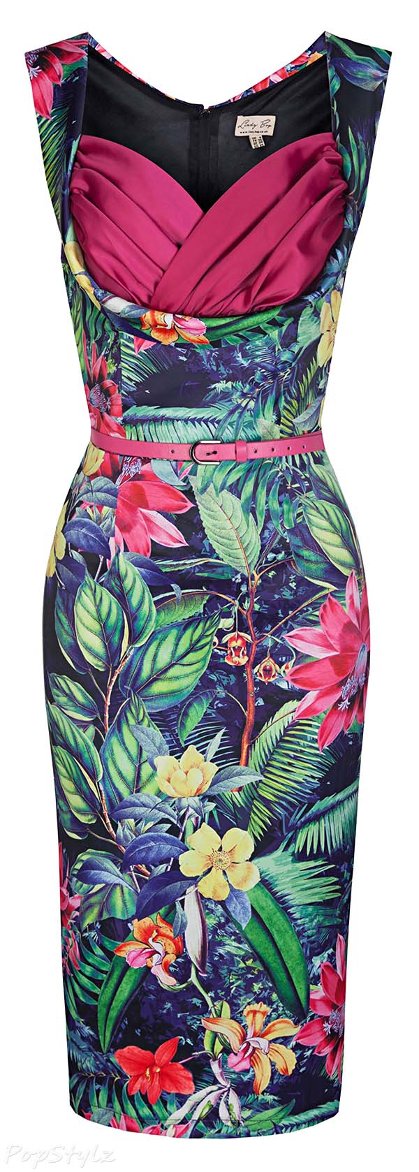 Lindy Bop 'Vanessa' 50's Inspired Rainforest Wiggle Dress