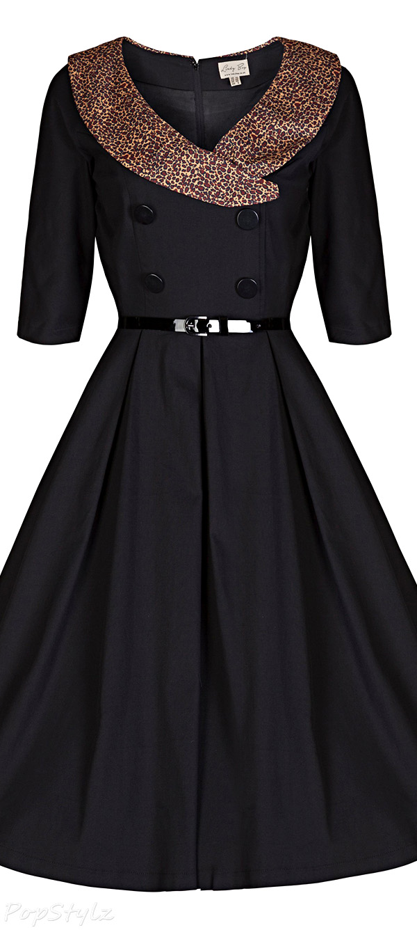 Lindy Bop 'Winnie' Vintage 40's/50's Collared Swing Dress
