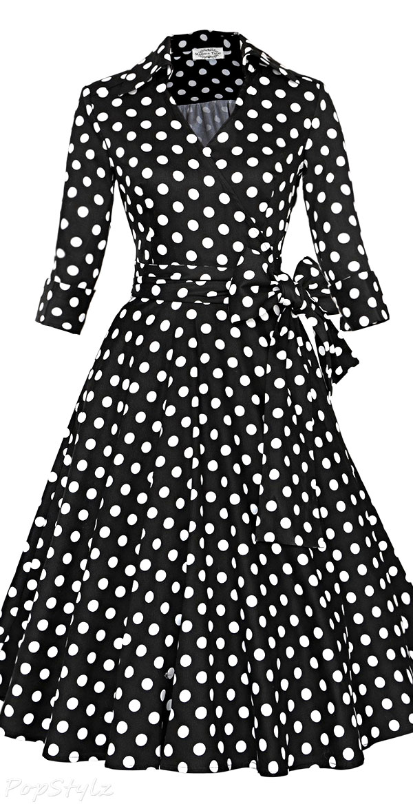 Maggie Tang Vintage 50s 60s Rockabilly Swing Dress