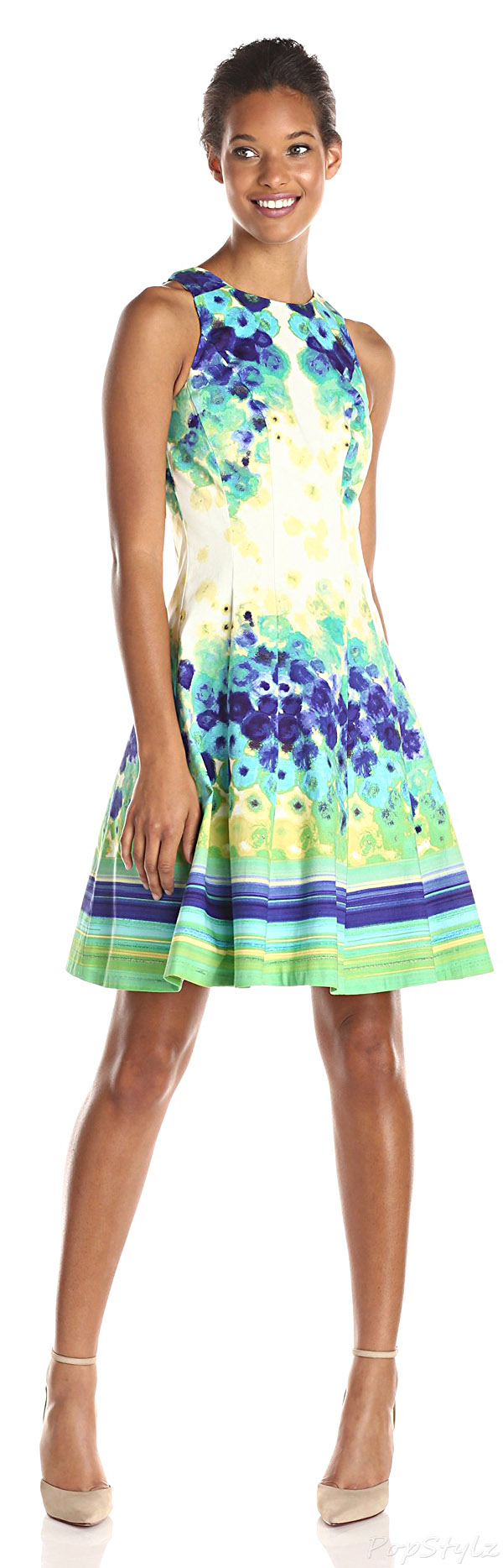 Maggy London Primrose Placement Print Fit & Flare Dress