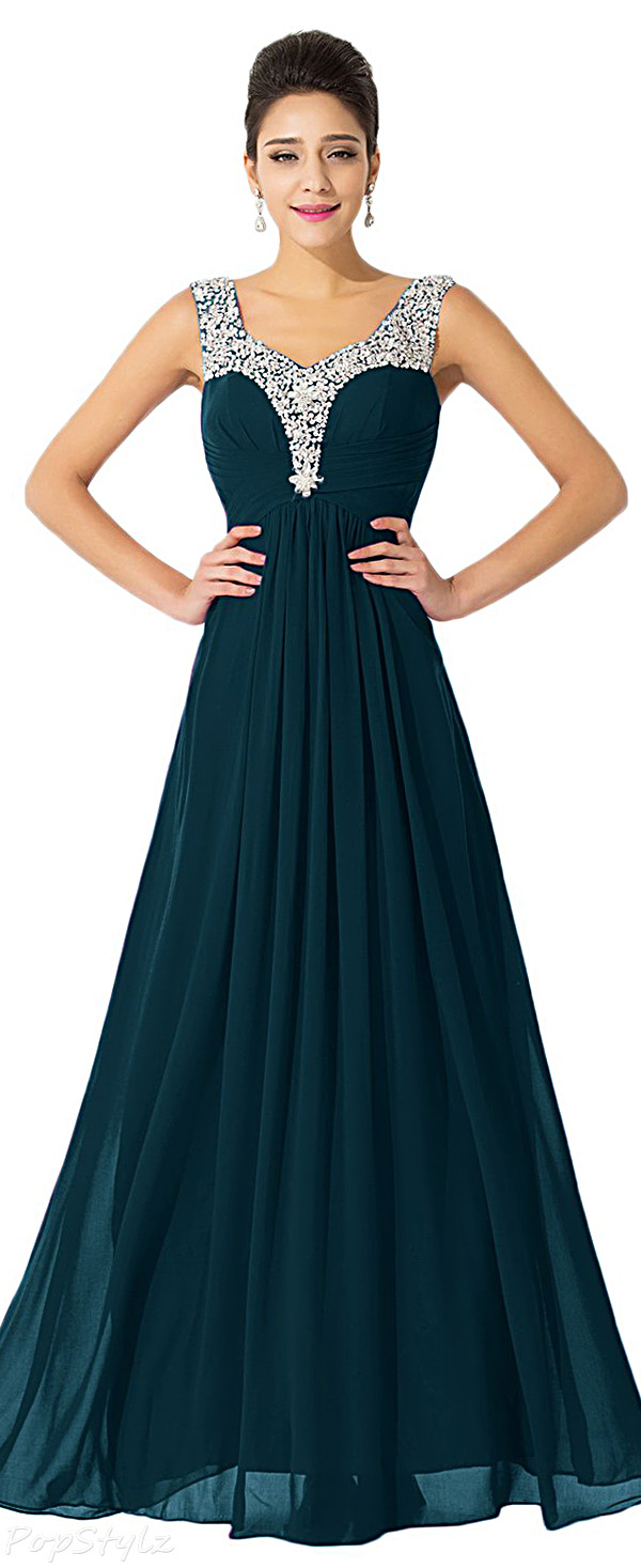 Sunvary Long Embellished Formal Evening Gown