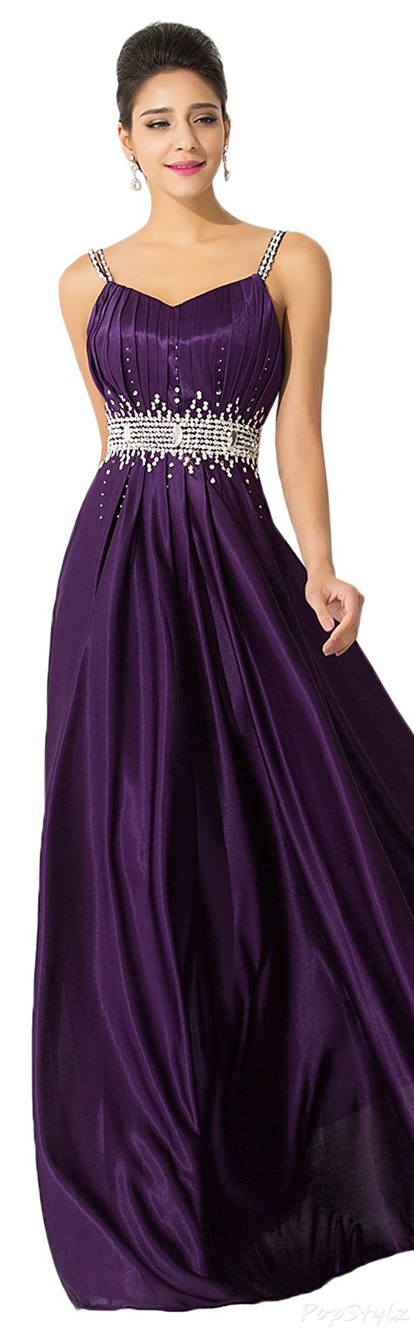 Sunvary Spaghetti Straps Long Formal Gown