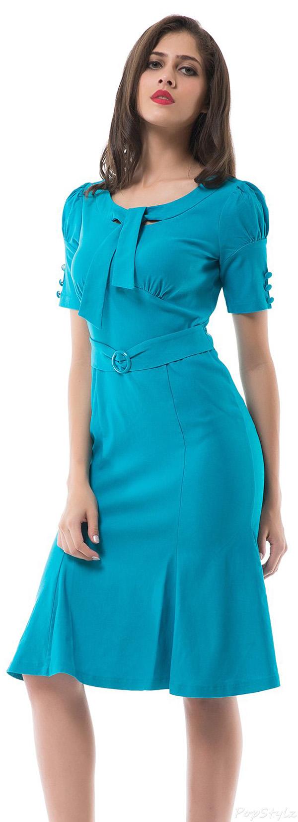 MUXXN Elegant Vintage Bodycon Evening Party Dress