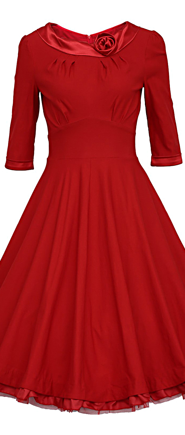 MUXXN Vintage 1950s Rockabilly Swing Dress