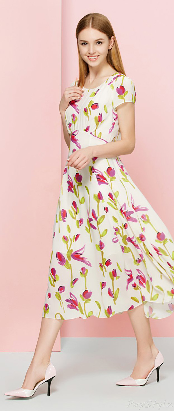 OSA Vintage Rose Floral Long Flowing Dress