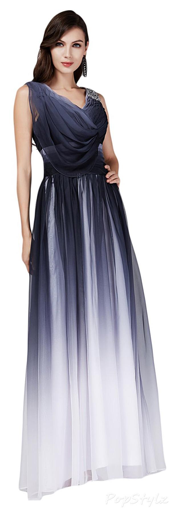 Sunvary V-Neck Long Gradient Custom Colors Formal Dress