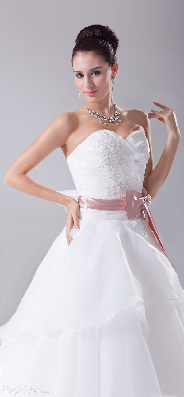 Topwedding Strapless Sweetheart A Line Bridal Gown
