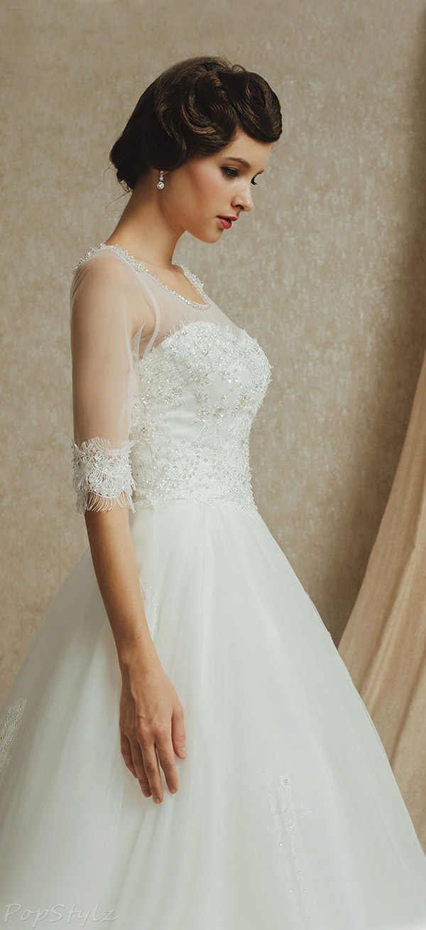 Topwedding Satin & Tulle A-Line Bridal Gown