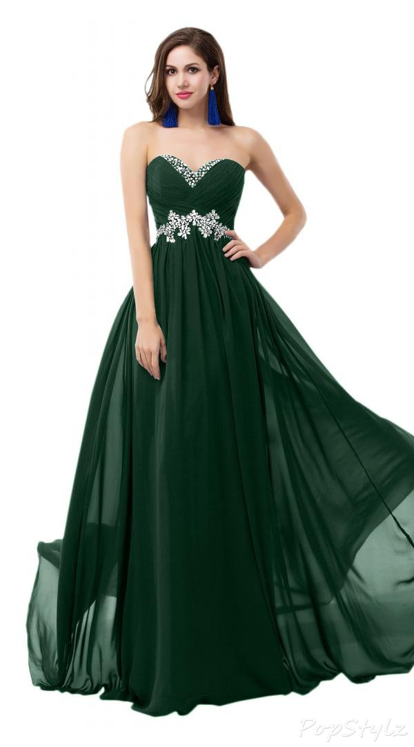 Sunvary Sweety Chiffon & Rhinestones Long Formal Gown