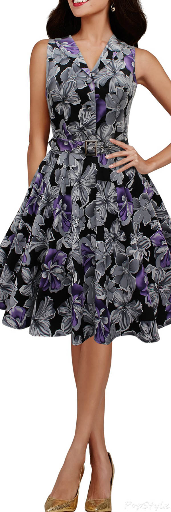 Black Butterfly 'Luna' Retro Liberty 50's Dress