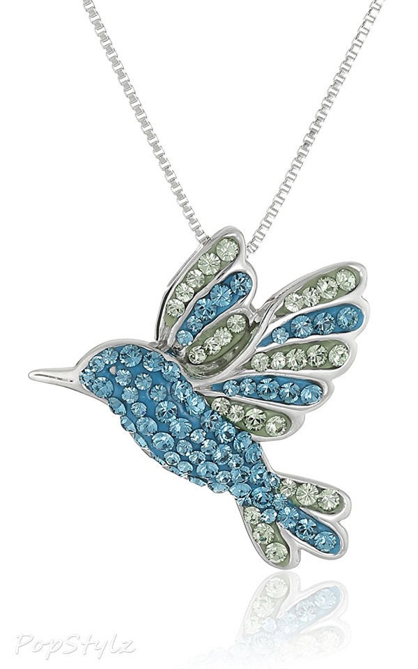 Hummingbird with Swarovski Elements Pendant Necklace