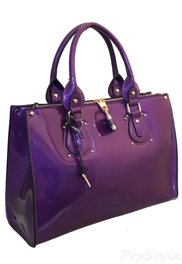 MyLux 83069 Fashion Designer Patent or PU Leather Handbag
