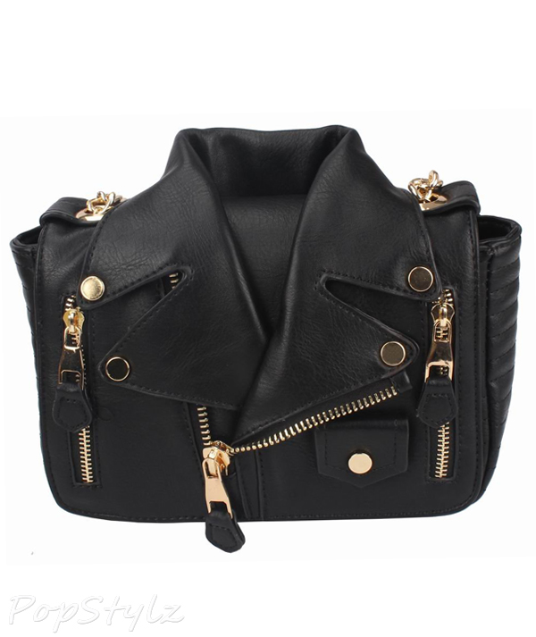 MyLux Limited Women's Fashion Motorcycle Jacket Handbag