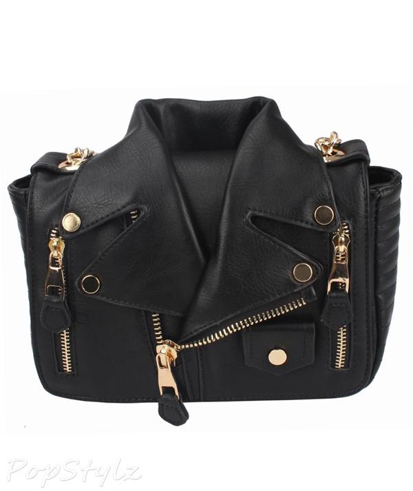 MyLux Limited Women's Fashion Motorcycle Jacket Handbag