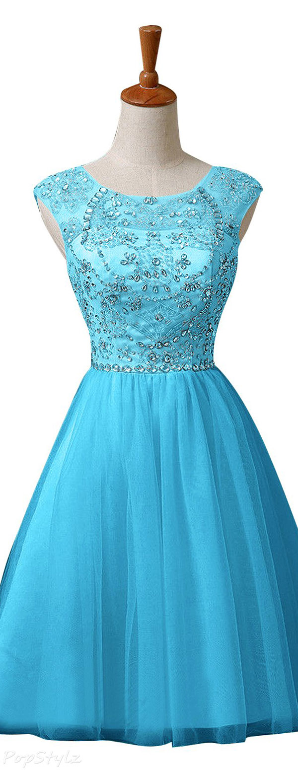 Sunvary Short Tulle Sweety Formal Evening Dress