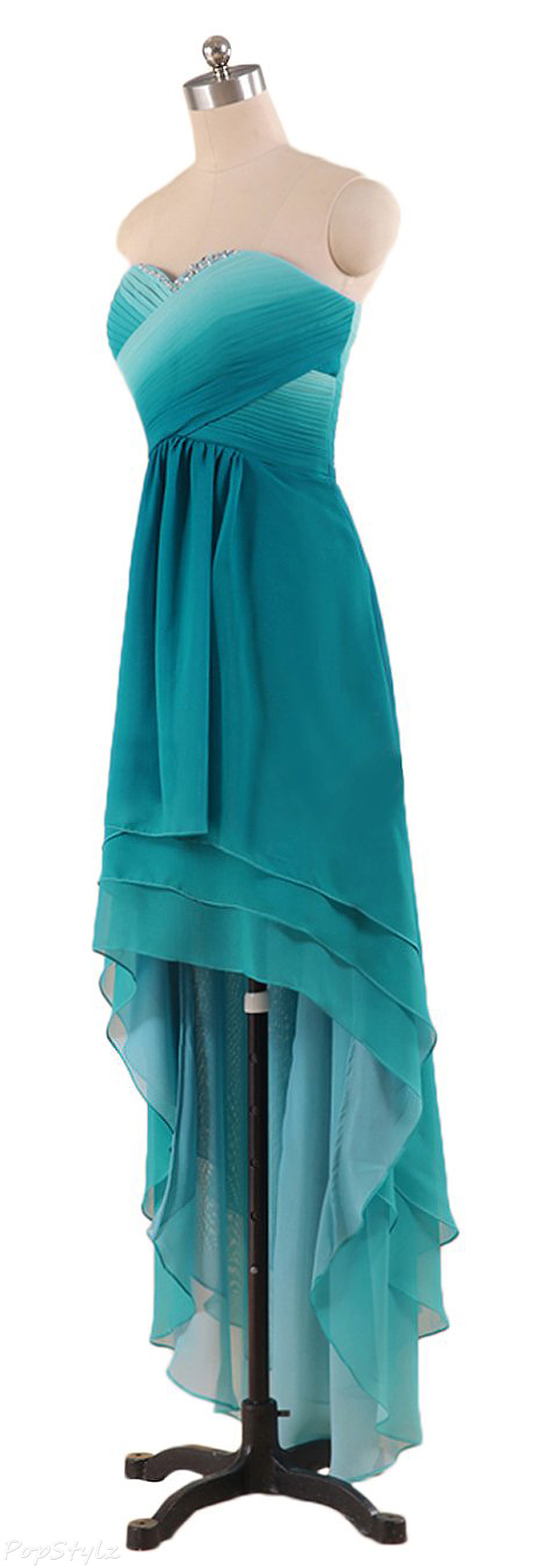 Sunvary 2015 High Low Chiffon Formal Gown
