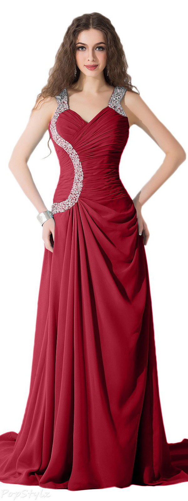 Sunvary Elegant Long Chiffon Formal Occasion Gown