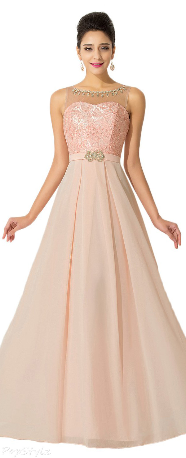 Sunvary Jewel Chiffon Formal Maxi Gown