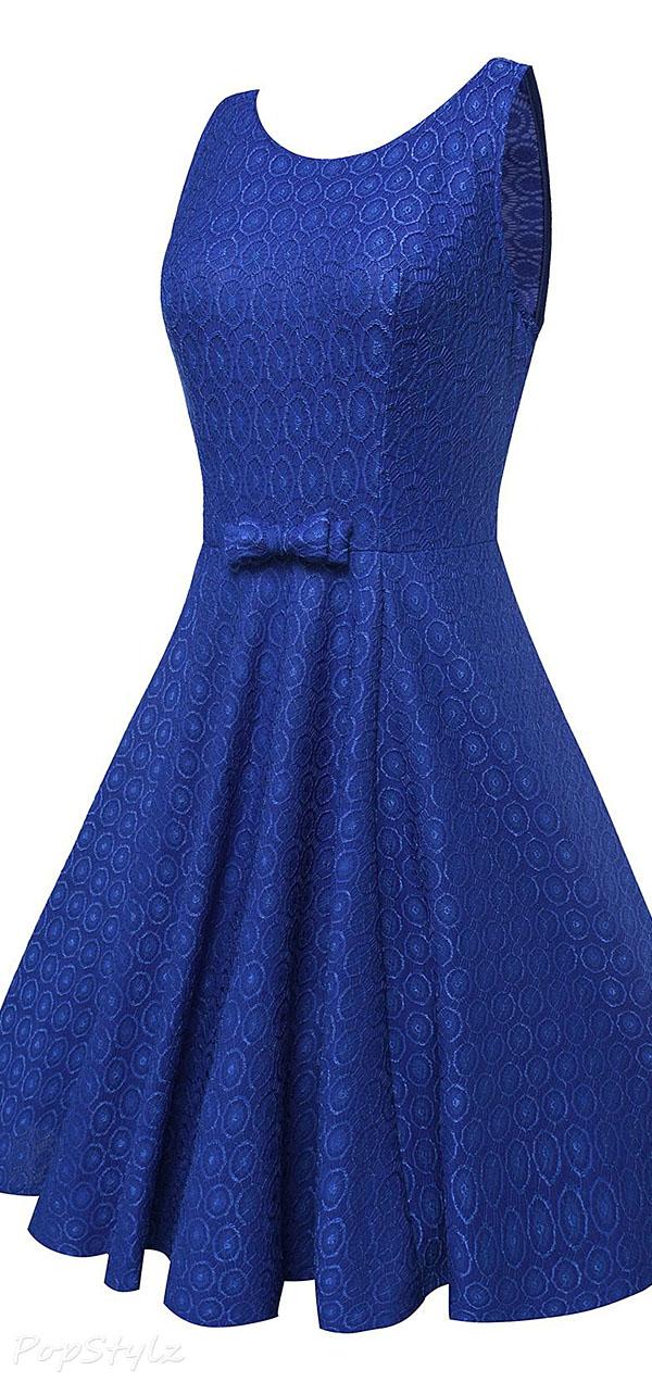 Anni Coco Vintage 1950s Audrey Hepburn Crochet Lace Dress