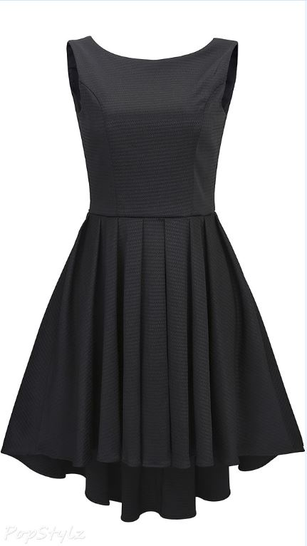 Anni Coco Backless Vintage Dovetail Swing Dress
