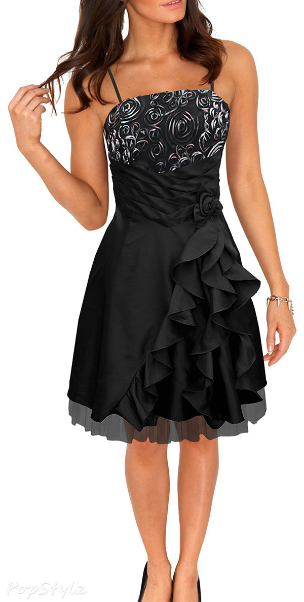 Black Butterfly 'April' Satin Bliss Waterfall Dress