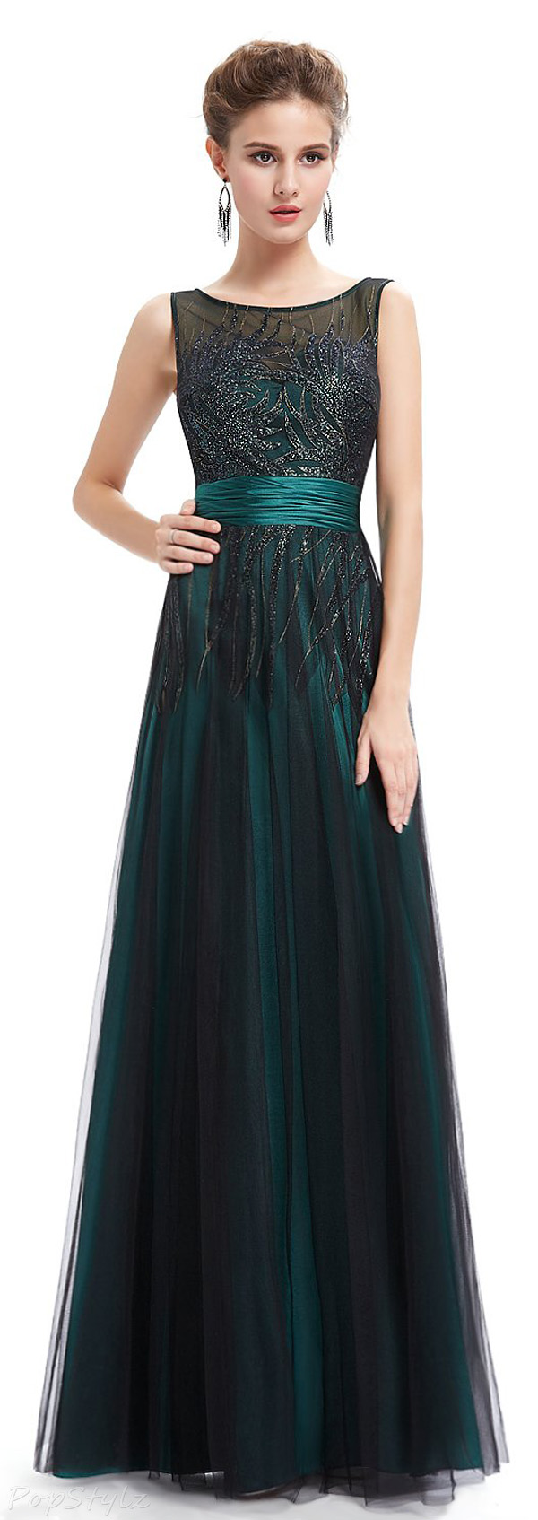 Ever Pretty 08740 Sleeveless Shimmery Floor Length Dress