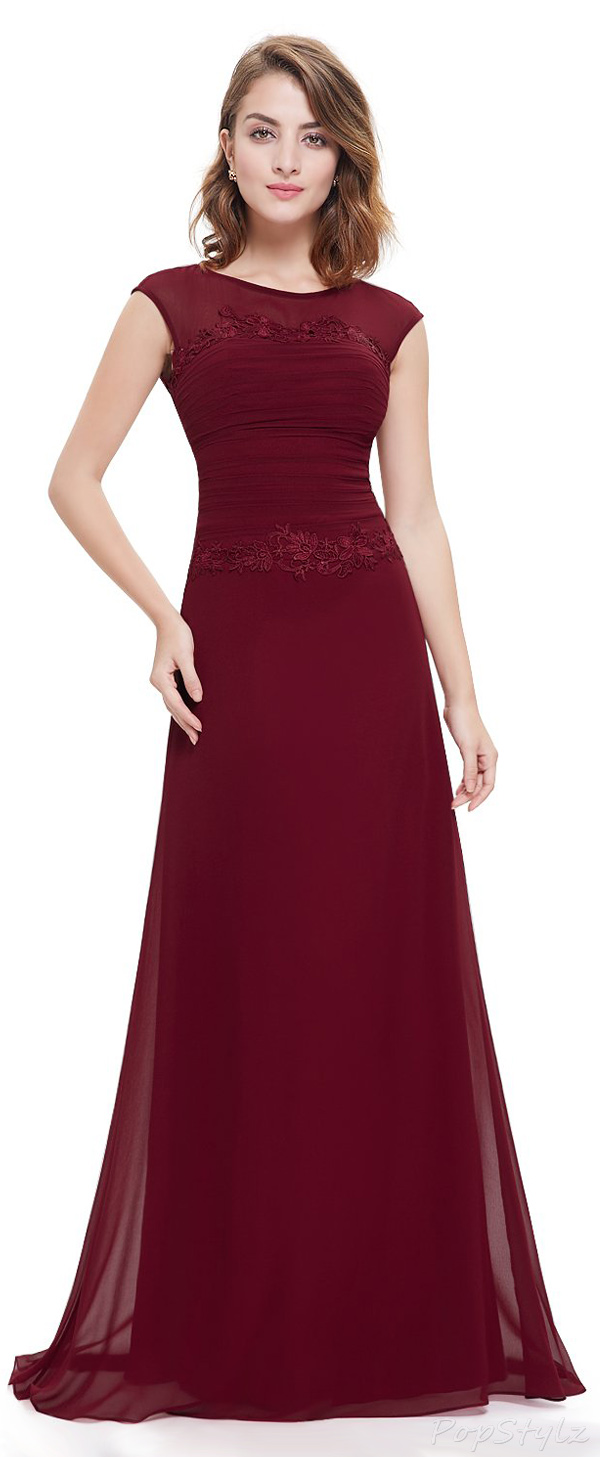 Ever Pretty 08369 Trailing Ruched Long Party Dress