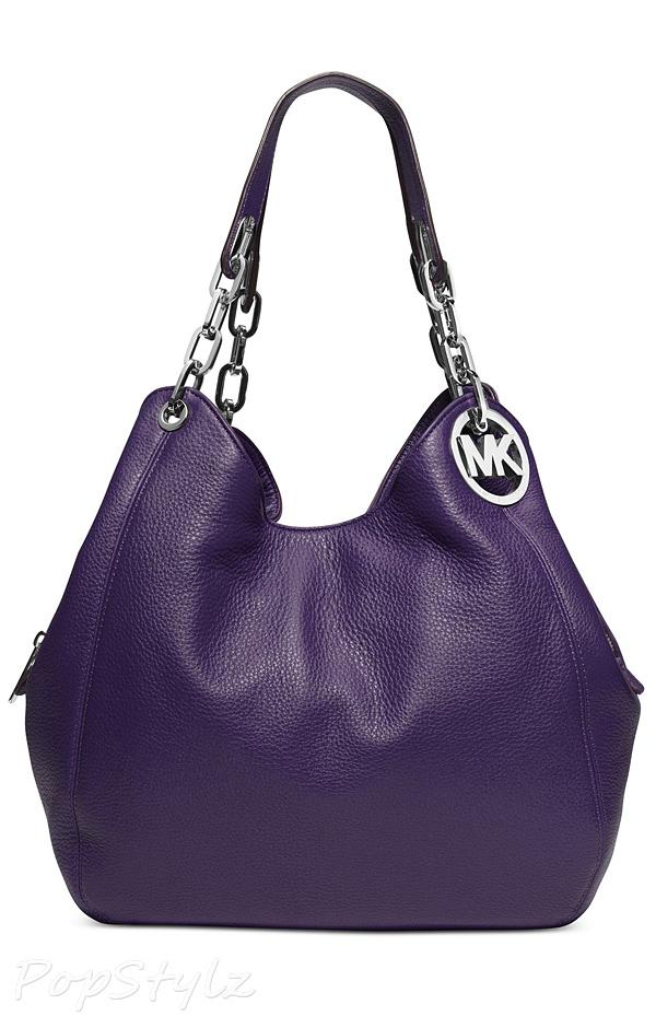Michael Kors Fulton Leather Large Tote Shoulder Handbag