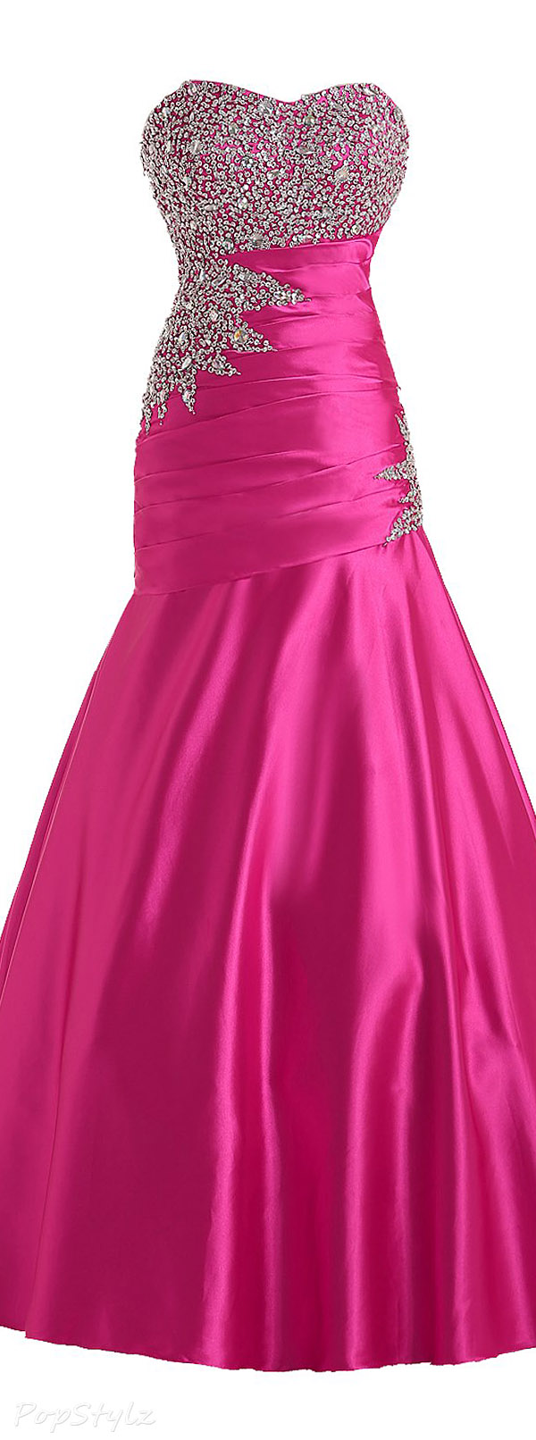 Sunvary Long Strapless Mermaid Formal Evening Gown