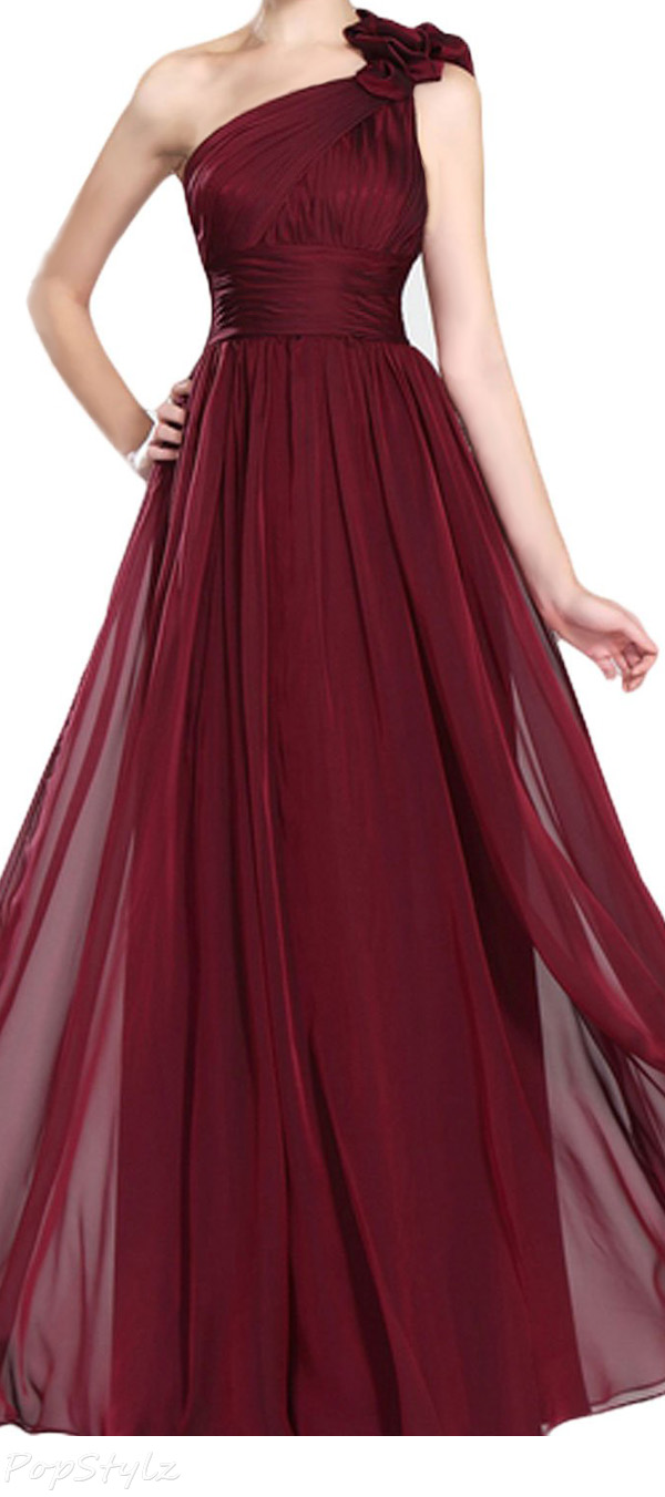 LovingDress One Shoulder Long Evening Dress