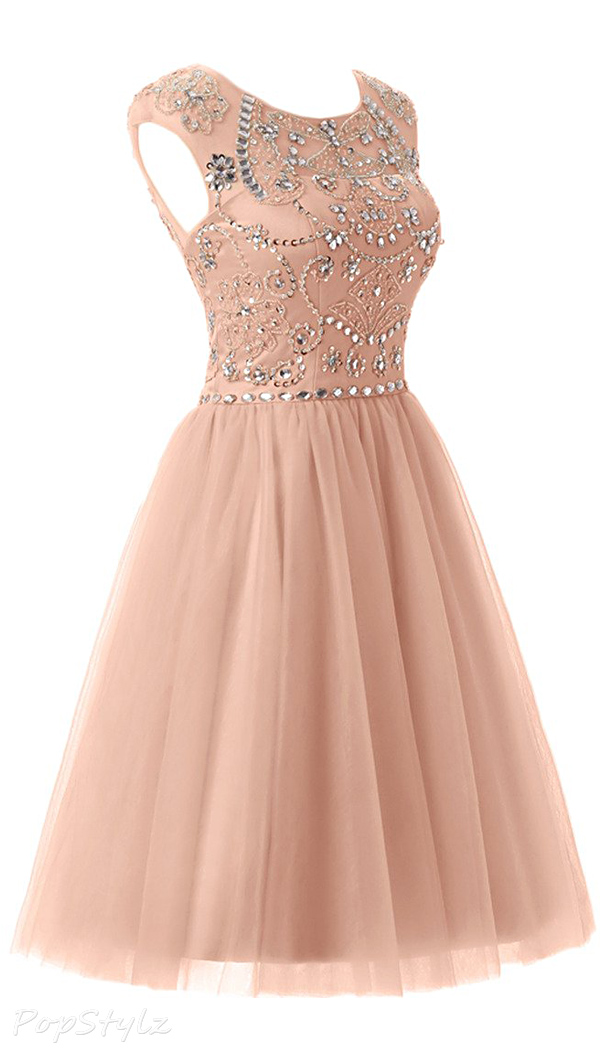 Sunvary Sweety Tulle Short Pageant Cocktail Dress
