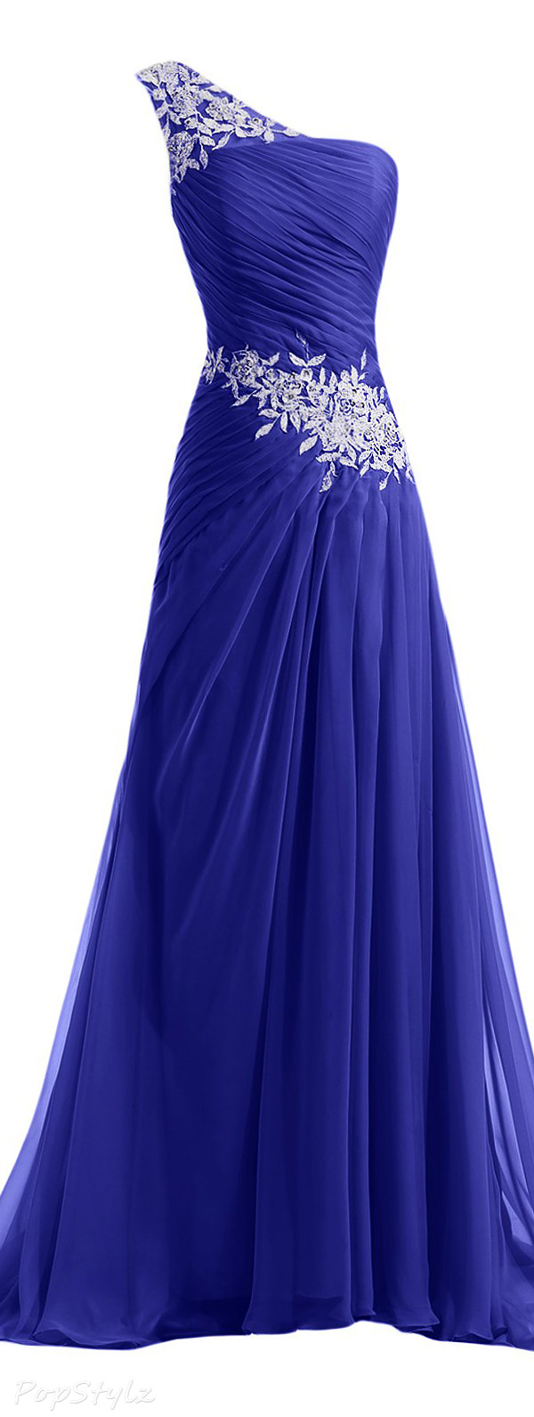 Sunvary Chiffon & Applique Formal Evening Gown