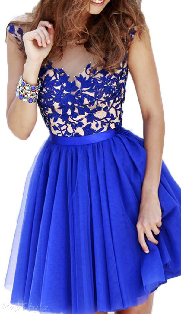 Sunvary Sweet Tulle & Lace Formal Dress