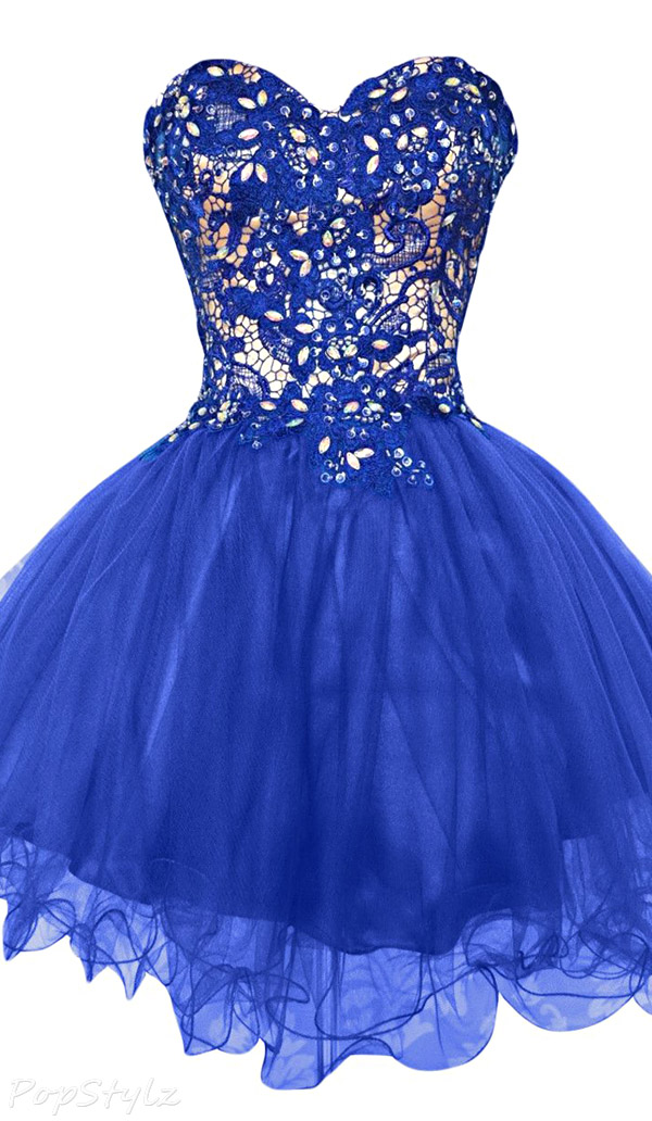 Sunvary Tulle & Lace Short Pageant Dress