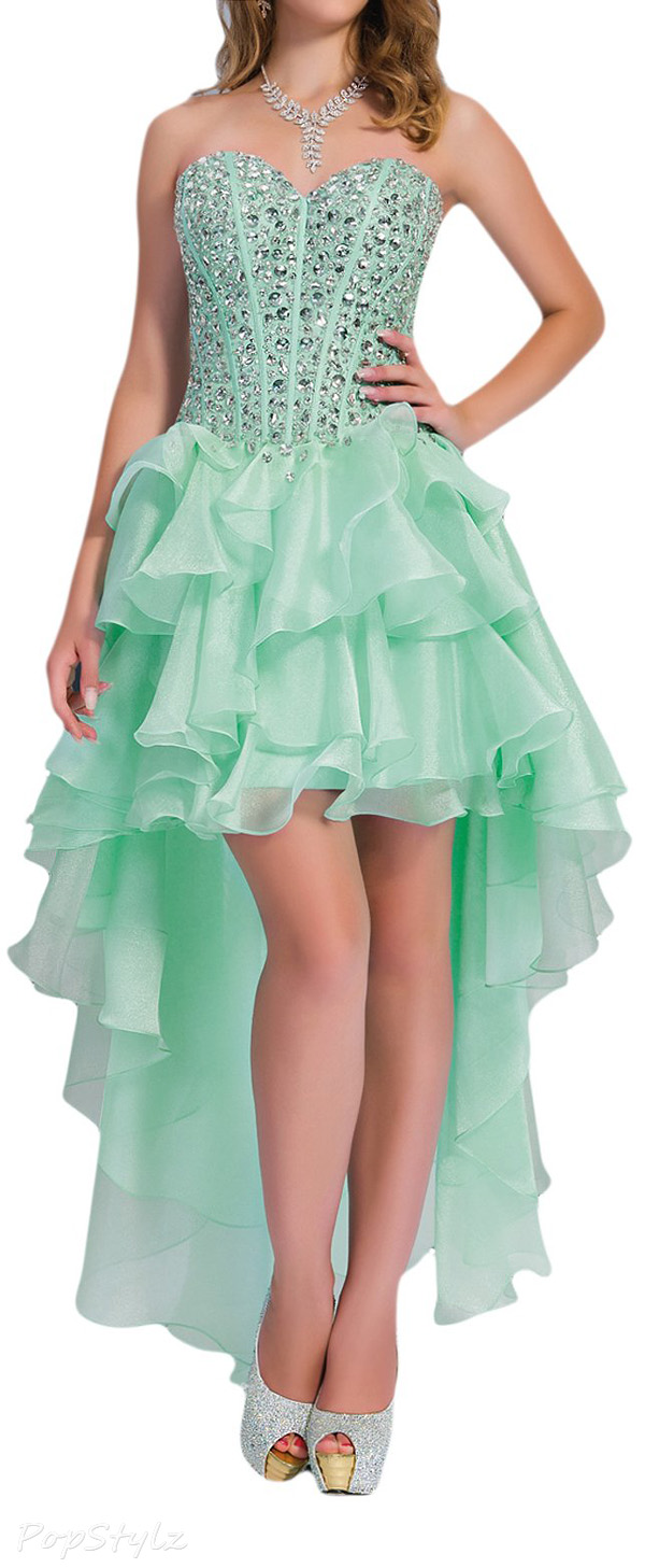 Sunvary Fancy High Low Organza Cocktail Dress