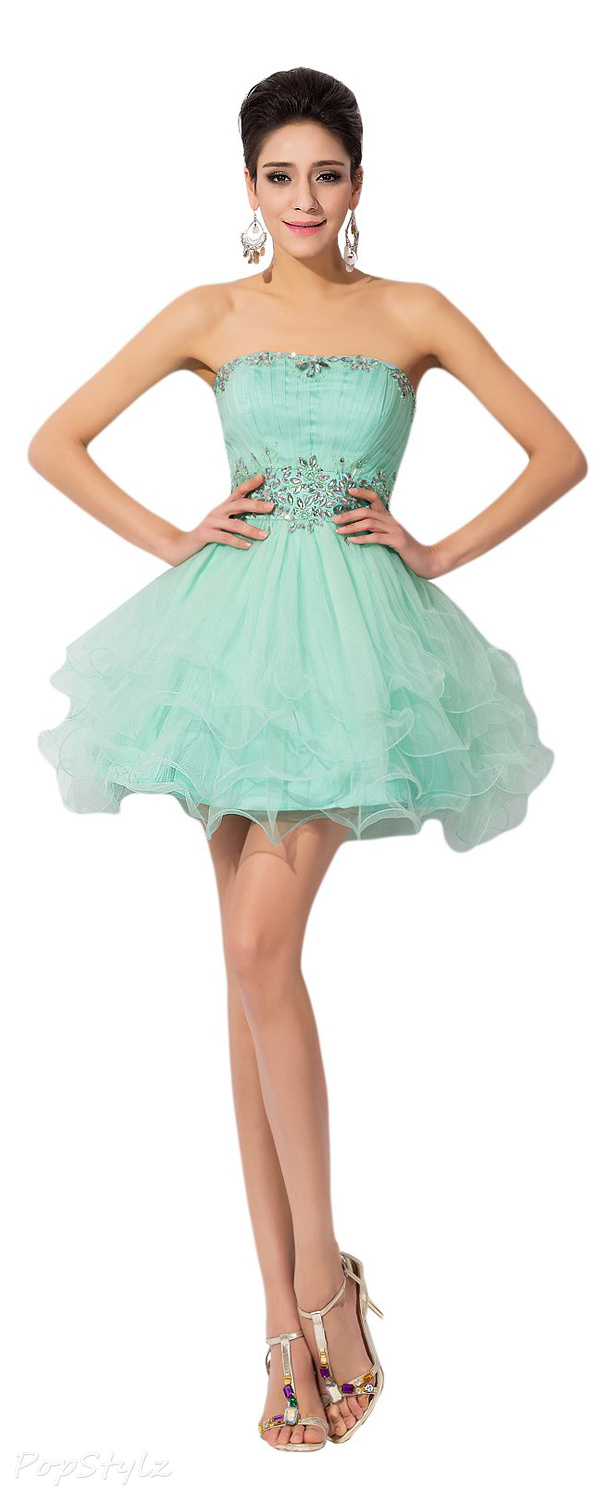 Sunvary Cute Tulle Mini Cocktail Formal Dress