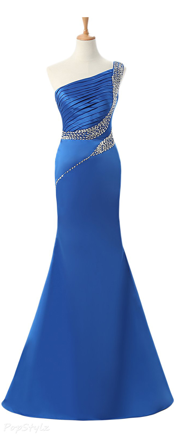 Sunvary Long Satin Formal Evening Gown