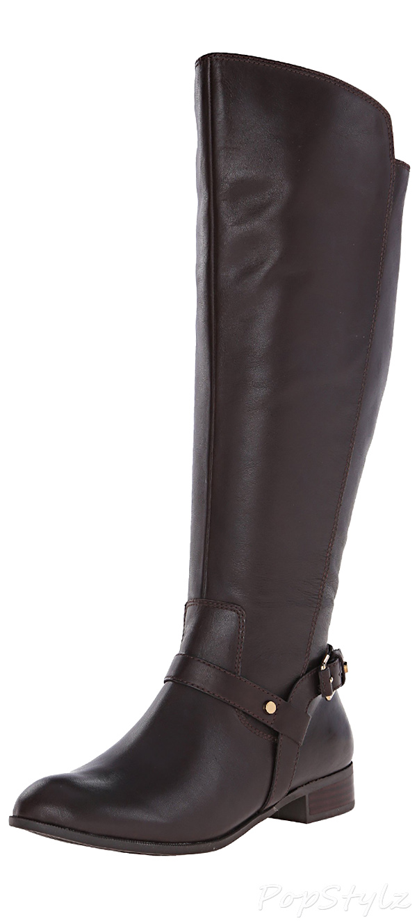 Anne Klein Kahlan Wide Calf Leather Riding Boot